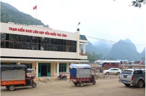"""Cửa khẩu Trà Lĩnh (Cao Bằng):""""Cửa ngõ"""" xuất khẩu nông sản việt"""