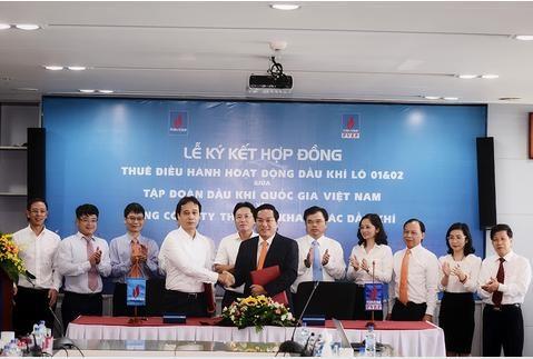 PVN và PVEP ký hợp đồng thuê điều hành hoạt động dầu khí Lô 01&02