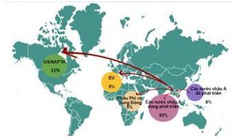 [Infographic] Các doanh nghiệp Việt lựa chọn nước nào để đầu tư?