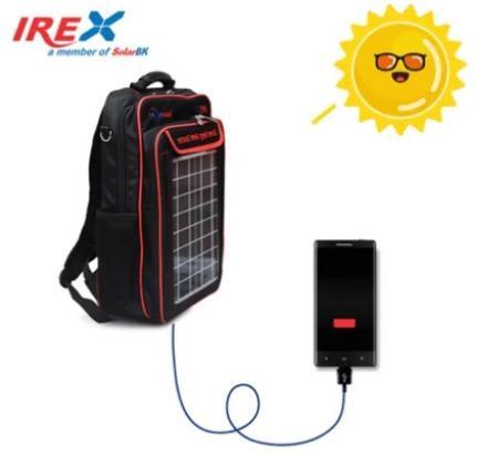 Ba lô pin năng lượng mặt trời