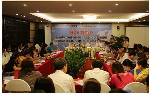 VCCI Nghệ An: Tăng cường doanh nghiệp vào chuỗi giá trị toàn cầu