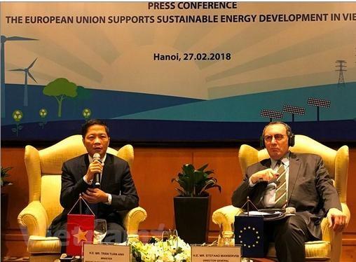 EU hỗ trợ Việt Nam 108 triệu euro phát triển năng lượng bền vững