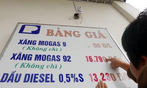 Giá xăng giảm lần thứ 4 liên tiếp