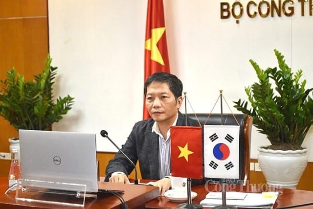 Hội đàm trực tuyến với Bộ trưởng Bộ Công nghiệp, Thương mại và Năng lượng Hàn Quốc