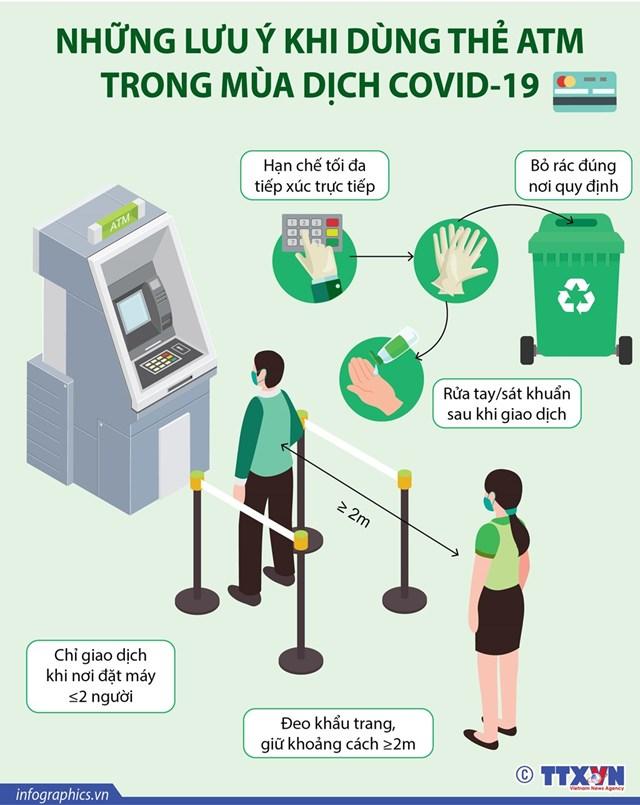 Những lưu ý khi dùng thẻ ATM trong mùa dịch COVID-19