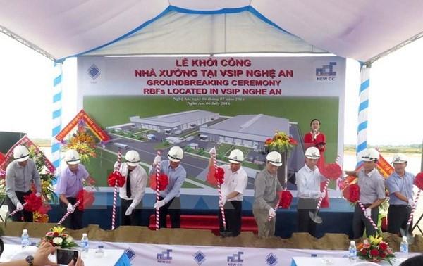 VSIP đầu tư 6 triệu USD xây khu nhà xưởng xây sẵn tại Nghệ An