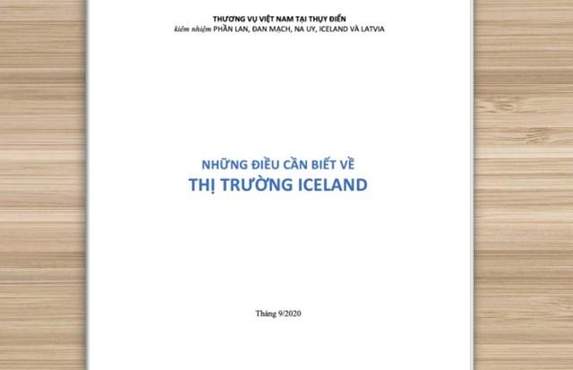 """Giới thiệu sách mới """"Những điều cần biết về thị trường Iceland"""""""