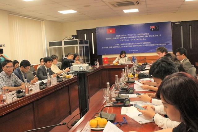 Họp nhóm công tác TM thuộc khuôn khổ Hội nghị Bộ trưởng Đối tác kinh tế VN – Úc