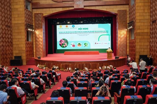 Hội nghị kết nối, xúc tiến tiêu thụ vải thiều Thanh Hà và nông sản tiêu biểu tỉnh Hải Dương năm 2021