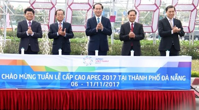 Chủ tịch nước Trần Đại Quang kiểm tra công tác chuẩn bị Tuần lễ Cấp cao APEC 2017