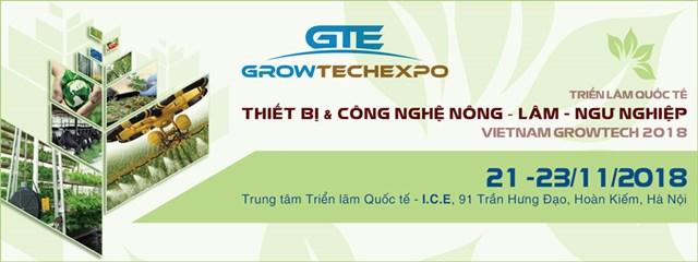 21-23/11: Triển lãm Quốc tế Thiết bị và Công nghệ Nông - Lâm - Ngư nghiệp