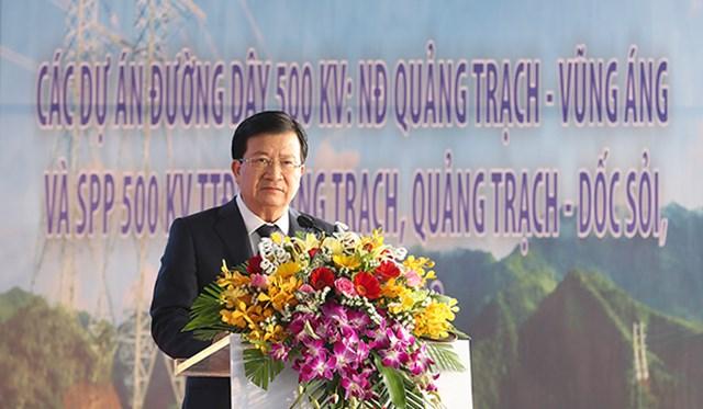 Phó Thủ tướng phát lệnh khởi công các dự án đường dây 500 kV mạch 3