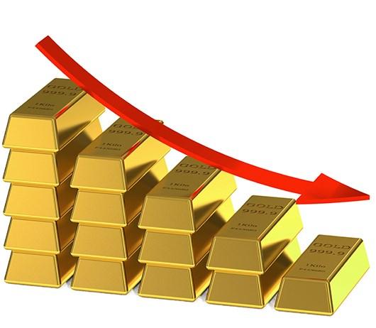Giá vàng ngày 18/4/2019 giảm xuống mức đáy 4 tháng