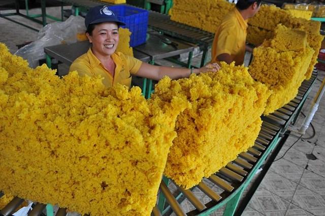 Xuất khẩu cao su sang Trung Quốc chiếm 65% tổng kim ngạch