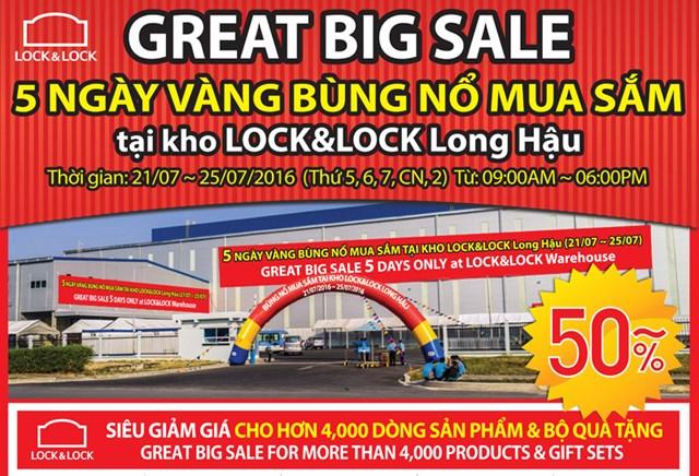"""Lock&Lock: """"5 ngày bùng nổ mua sắm"""" và giảm giá lớn nhất trong năm"""