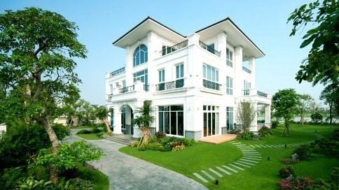 Điểm nhấn xanh của khu biệt thự Garden Villas