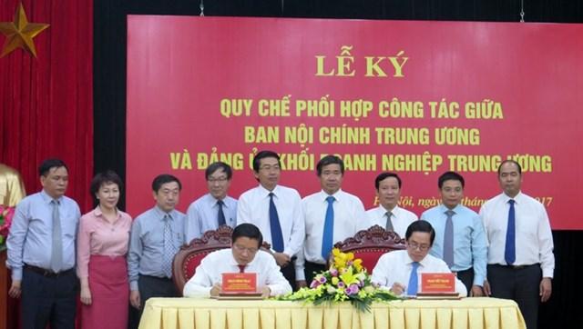 Phối hợp công tác giữa Ban Nội chính Trung ương và Đảng ủy Khối Doanh nghiệp TW
