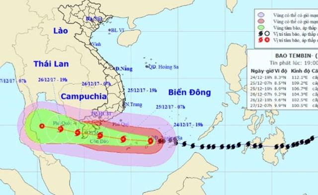 PVEP tiến hành sơ tán người tránh bão Tembin