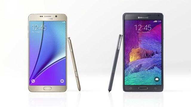 So sánh chi tiết Samsung Galaxy Note 5 và Galaxy Note 4