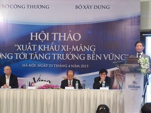 """Hội thảo """"Xuất khẩu xi măng hướng tới tăng trưởng và bền vững"""""""